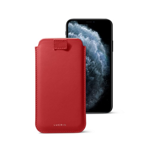 iPhone X case with pull tab