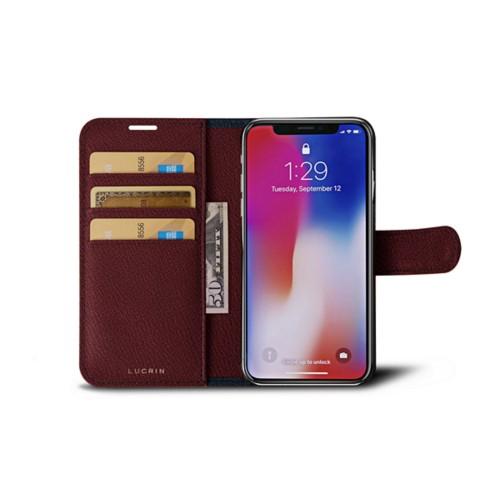 Bicolor Funda con cartera iPhone X