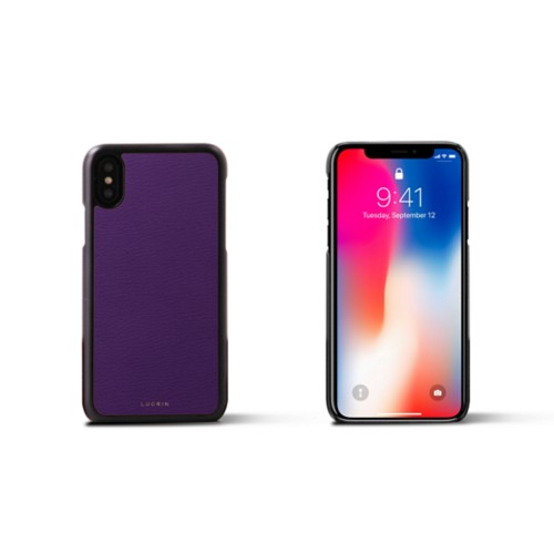 iPhone X Cover - Purple - Goat Leather