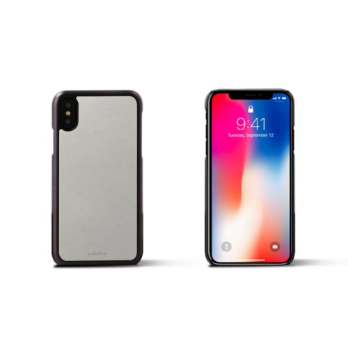 iPhone X Cover - White - Smooth Leather