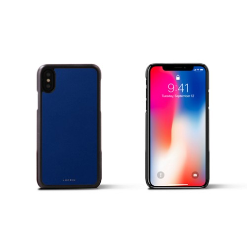 iPhone X Cover - Royal Blue - Smooth Leather