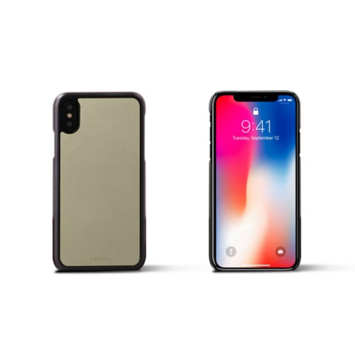 iPhone X Cover - Off-White - Smooth Leather