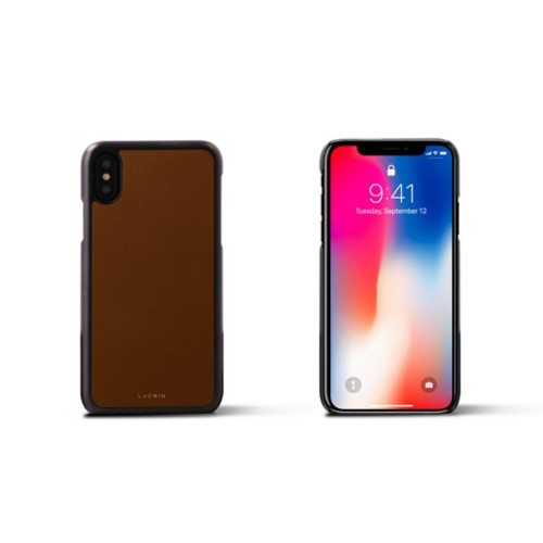 iPhone X Cover - Tan - Smooth Leather