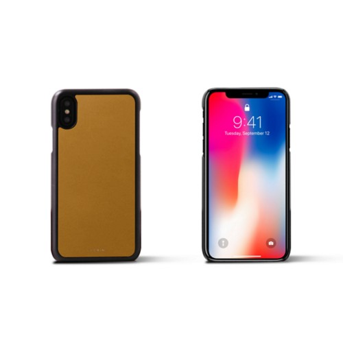 iPhone X Cover - Mustard Yellow - Smooth Leather