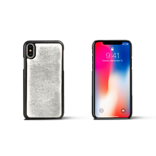 Fur iPhone X Cover - White - Shearling