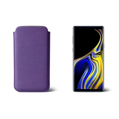 Sleeve voor Samsung Galaxy Note 9 - Lavendel - Korrelig Leer