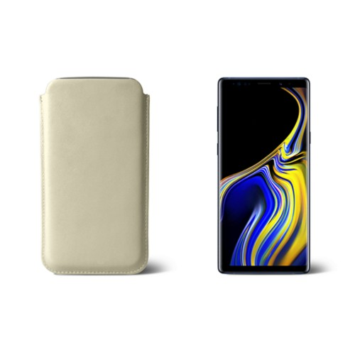 Sleeve for Samsung Galaxy Note 9 - Off-White - Smooth Leather