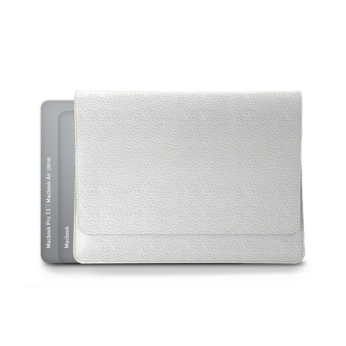 "Folder for Apple devices (max. 13"") - White - Granulated Leather"
