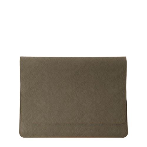 Dokumentenmappe für AppleGeräte (max.13Zoll) - Dunkeltaupe - Genarbtes Leder