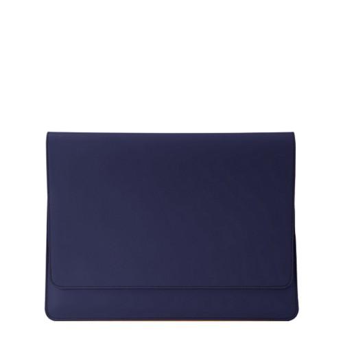 Dokumentenmappe für AppleGeräte (max.13Zoll) - Königsblau  - Glattleder
