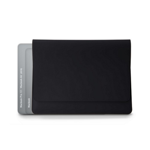 Dokumentenmappe für AppleGeräte (max.13Zoll) - Schwarz - Glattleder