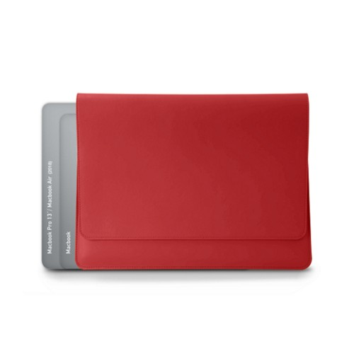 "Folder for Apple devices (max. 13"") - Red - Smooth Leather"