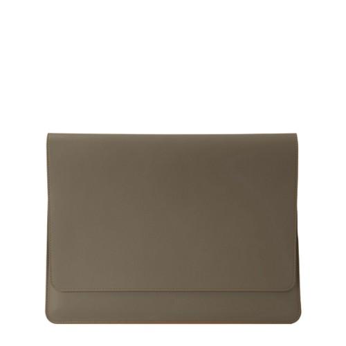 Dokumentenmappe für AppleGeräte (max.13Zoll) - Dunkeltaupe - Glattleder