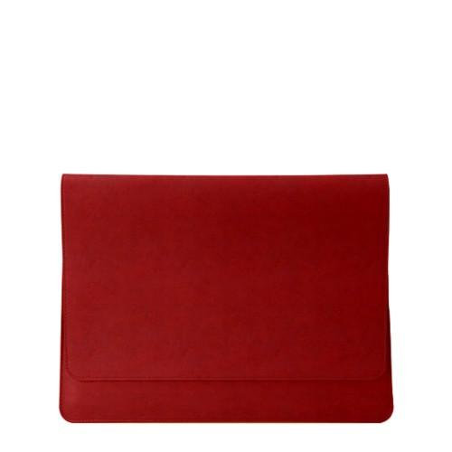 Dokumentenmappe für AppleGeräte (max.13Zoll) - Karminrot - Pflanzlich Gegerbtes Leder