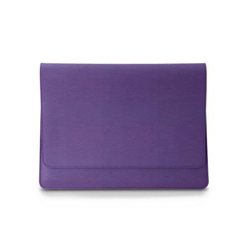 Zachte A4 hoes met flap - Lavendel - Korrelig Leer