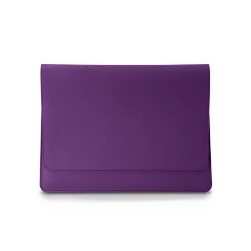 Zachte A4 hoes met flap - Lavendel - Soepel Leer