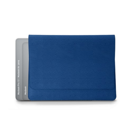 Custodia stile busta per MacBook Air 2018 - Blu Reale - Pelle Ruvida
