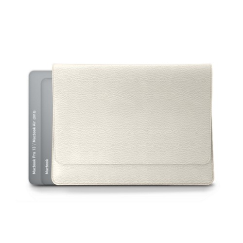 Envelope Pouch - MacBook Air 2018 - Off-White - Granulated Leather