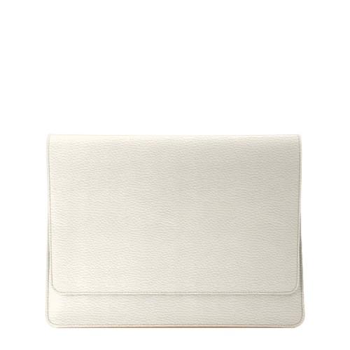 Custodia stile busta per MacBook Air 2018 - Avorio - Pelle Ruvida