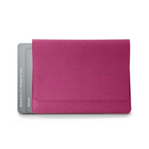 Funda tipo sobre para MacBook Air 2018 - Fuchsia  - Piel Grano