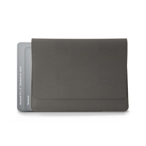 Envelope Pouch - MacBook Air 2018 - Mouse-Grey - Granulated Leather