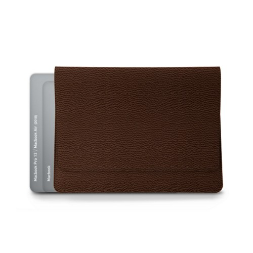 Envelope Pouch - MacBook Air 2018 - Dark Brown - Granulated Leather