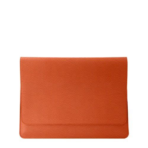 Funda tipo sobre para MacBook Air 2018 - Naranja - Piel Grano