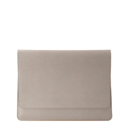 Funda tipo sobre para MacBook Air 2018 - Taupe Luz - Piel Grano