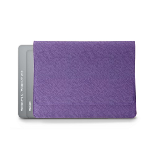 Envelope Pouch - MacBook Air 2018 - Lavender - Granulated Leather