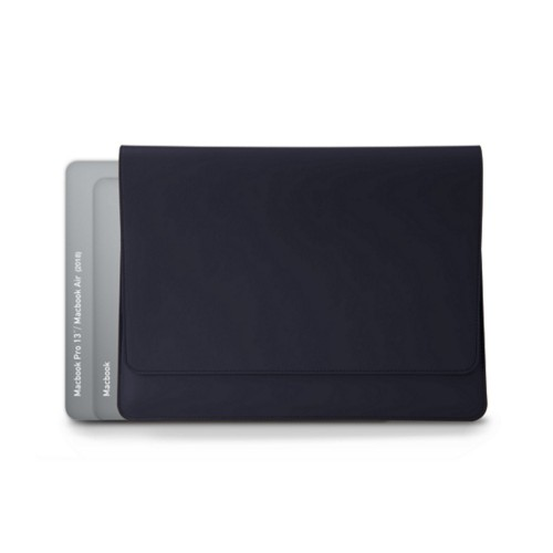 Funda tipo sobre para MacBook Air 2018 - Azul marino  - Piel Liso