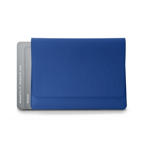 Custodia stile busta per MacBook Air 2018 - Blu Reale - Pelle Liscia