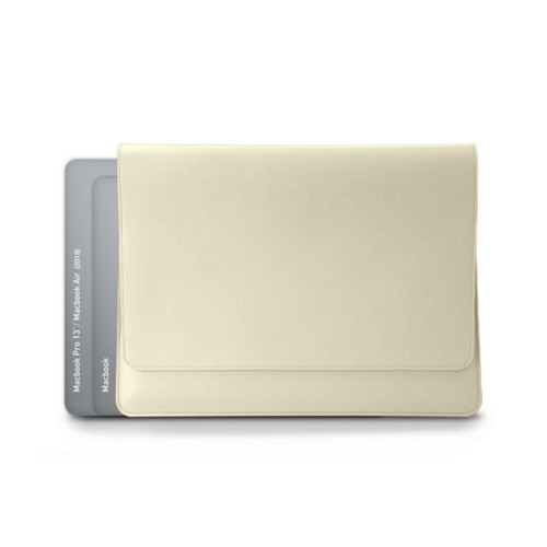 Envelope Pouch - MacBook Air 2018 - Off-White - Smooth Leather