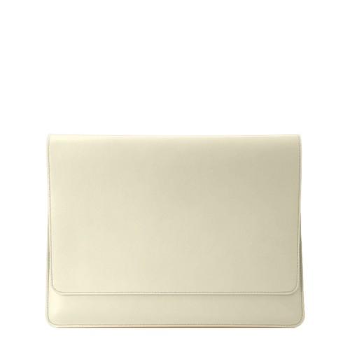 Custodia stile busta per MacBook Air 2018 - Avorio - Pelle Liscia