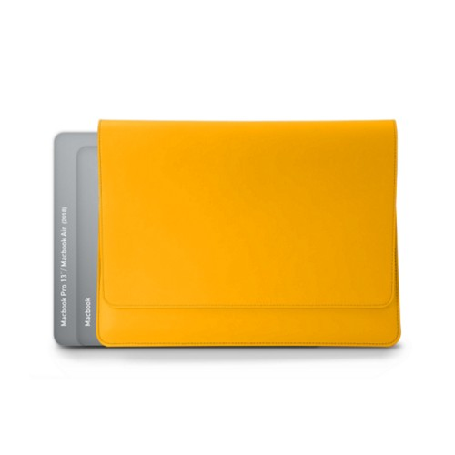 Envelope Pouch - MacBook Air 2018 - Sun Yellow - Smooth Leather