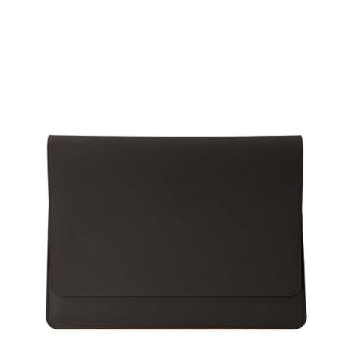 Funda tipo sobre para MacBook Air 2018 - Marrón oscuro - Piel Liso