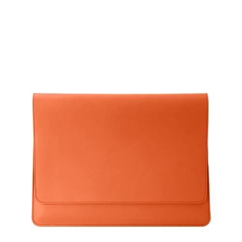 Funda tipo sobre para MacBook Air 2018 - Naranja - Piel Liso