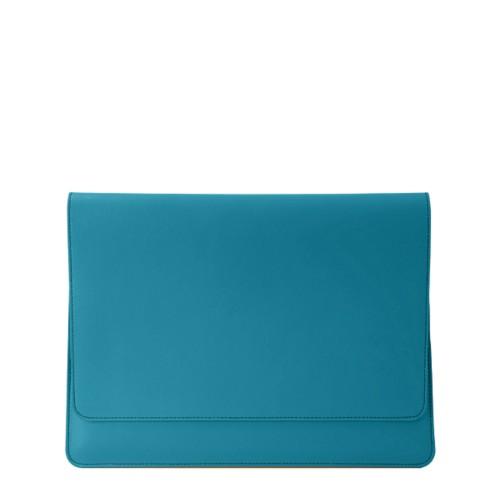 Funda tipo sobre para MacBook Air 2018 - Azul turqués - Piel Liso