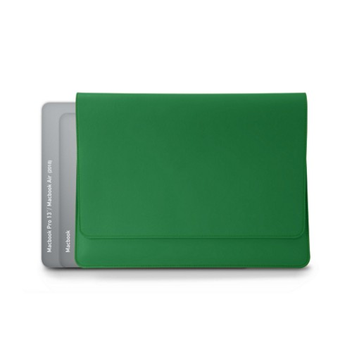 Funda tipo sobre para MacBook Air 2018 - Verde claro - Piel Liso