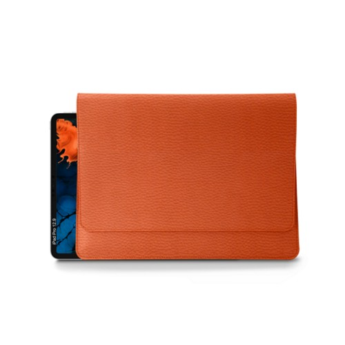 Folder for iPad Pro 12.9 inch - Orange - Granulated Leather