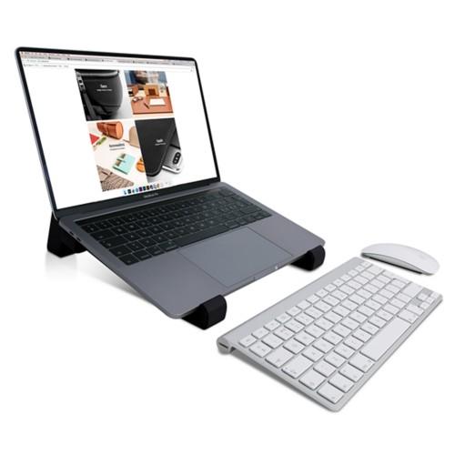 Supporto per laptop - Nero - Pelle Liscia