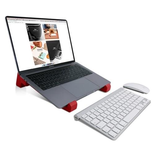 Soporte para ordenador - Rojo - Piel Liso