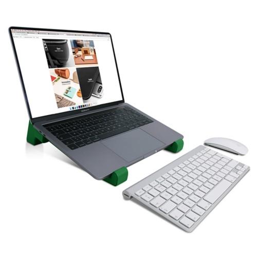 Soporte para ordenador - Verde claro - Piel Liso