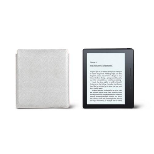 Étui Kindle Oasis 2017 - Blanc - Cuir Grainé