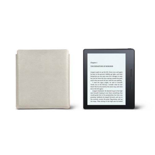 Étui Kindle Oasis 2017 - Blanc Cassé - Cuir Grainé