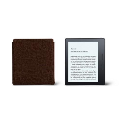 Étui Kindle Oasis 2017 - Marron Foncé - Cuir Grainé