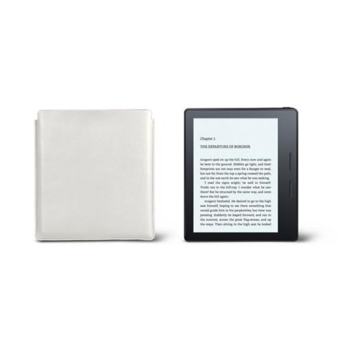 Étui Kindle Oasis 2017 - Blanc - Cuir Lisse