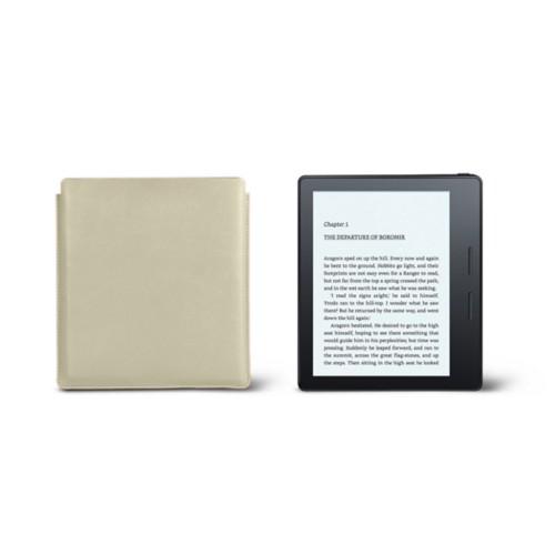 Étui Kindle Oasis 2017 - Blanc Cassé - Cuir Lisse