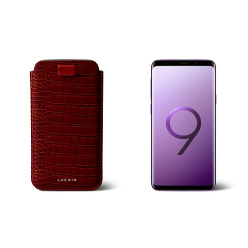 Samsung Galaxy S9 case with pull-up strap