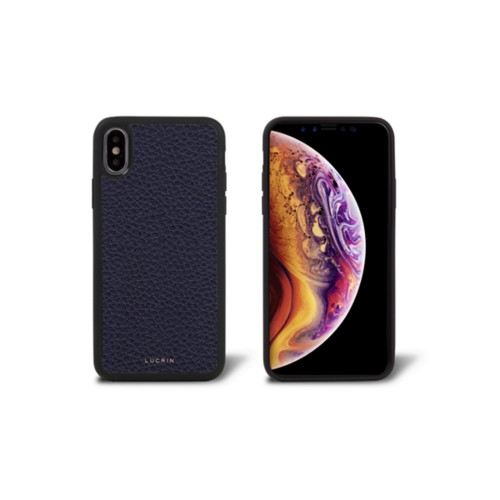 iPhone X Cover - Purple - Granulated Leather