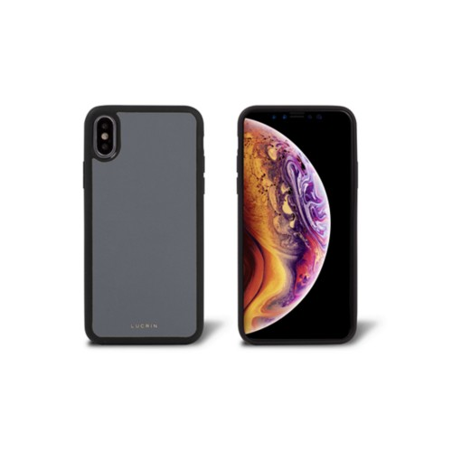 iPhone X Cover - Mouse-Grey - Smooth Leather